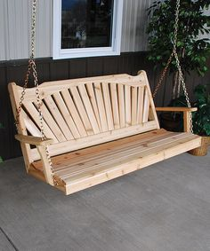 Look what I found on #zulily! Unfinished Fanback Porch Swing #zulilyfinds