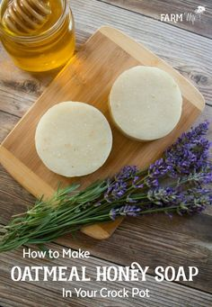 How to Make Oatmeal Honey Soap in Your Crock Pot #homemadesoap