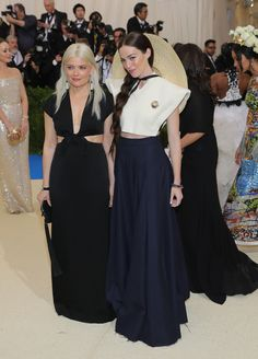 Kate Young with Hailey Gates in Jacquemus - 2017 MET Gala