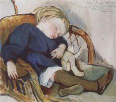 So sleep Binka (Eugene Serebryakov) - Zinaida Serebriakova