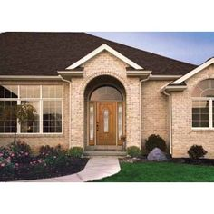 Floors, Windows & Doors Products : Find Front Doors and Curtains Online Patio Doors, Entry Doors, Replacing Front Door, Beautiful Front Doors, Windows And Doors, Curb Appeal, Flooring, Curtains, Mansions