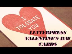 Valentine's Day Cards are Handmade with Love by Mary Bruno, A Unique Letterpress Printer - YouTube