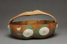 Gourd Basket with Chrysanthemum Design. 1700s, Japan attributed to Ogata Korin (Japanese, 1658-1716)