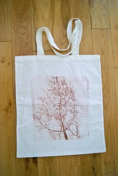 Hand printed fennel plant cotton tote bag by heathersgoodies, £6.00