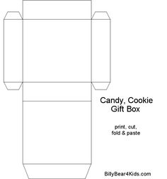 Chocolate Boxes Template | BillyBear4Kids.com Gift   Candy   Cookie Box  Templates