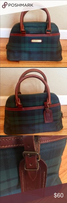 "4a918d4e9245 Vintage 1980 s Polo Ralph Lauren tartan purse Measurements are  approximately  12"" x 9"""