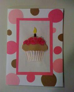 Polka Pink Cupcake Card