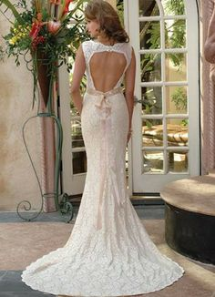 mermaid-open-back-wedding-dress - Wedding Ideas, Wedding Trends, and Wedding Galleries