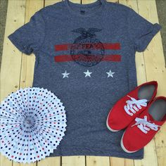 Stars and Stripes Emblem Tee on Clearnce now at Shop FFA! #FFAstyle