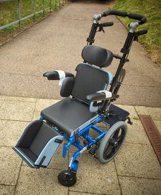 Freedom CGX Designs custom build. #wheelchair #wheelchairs #disability #disabled #mobility #blue