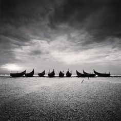 Nine Boats, Andakarnnazi Beach, Kerala, India, 2008
