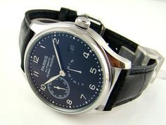 43mm Luxury Black Dial Power Reserve Automatic P004 Mens Watches 072101 - Port City Jewelers