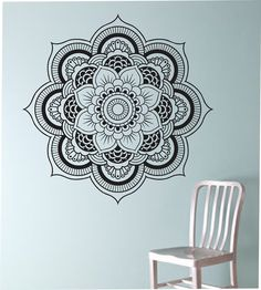 Amazon.com - Mandala Flower Wall decal vinyl Art Home Decor Namaste Yoga Hindu Buddha -