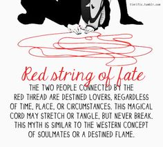 Red String of Fate | Red String of Fate | http://tinrific.tumblr.com/ - image #903804 by ...