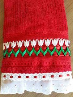 Resultado de imagem para toalhas de trançado de fitas #mandalascalados