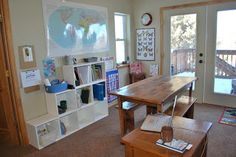 A simple homeschool space
