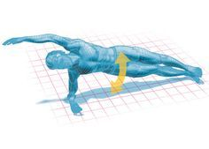 side plank with overhead reach