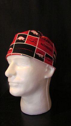 University of Arkansas Razorbacks Basketball Tie Back Surgical Scrub Hat Cap by TipTopLids on Etsy