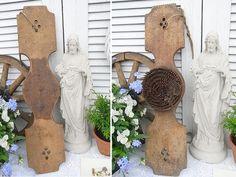 Vintage Aufbewahrung - shabby chic Steckigel Flachsrechen Zettelständer - ein Designerstück von artdecoundso bei DaWanda