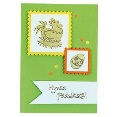 Ääriviivatarrojen avulla valmistettu kortti.