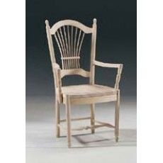 Tradd Dining Arm Chair - Customizable Coastal Cottage Comfort