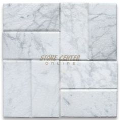 "$7.59 80 ft min Carrara White 3""x6"" Subway Tile Tumbled - Marble from Italy - Carrara White"