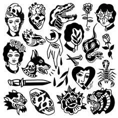 49 Ideen Tattoo Old School Flash schwarz für 2019 tattoo tattoo tattoo tattoo tattoo tattoo tattoo ideas designs ideas ideas in memory of ideas unique.diy tattoo permanent old school sketches tattoos tattoo Flash Art Tattoos, Tattoo Flash Sheet, Body Art Tattoos, Sleeve Tattoos, Black Tattoo Art, Black Tattoos, Small Tattoos, 27 Tattoo, Doodle Tattoo