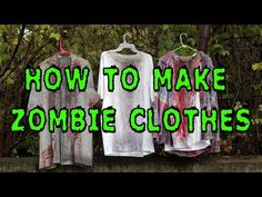 DIY: How To Make Zombie Clothes - YouTube