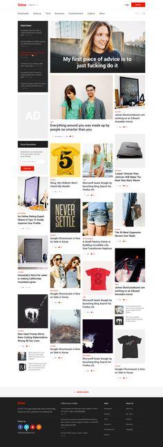 Cool #Web #design для блогов