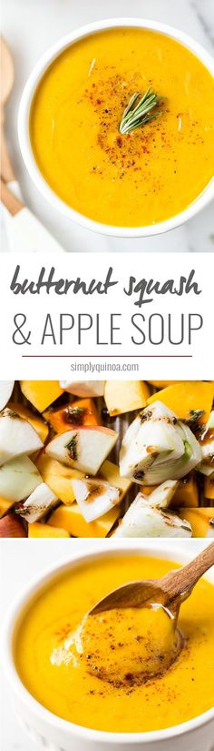 BUTTERNUT SQUASH & APPLE SOUP with roasted fennel and garlic...plus a new way to make soup that adds tons of flavor AND saves time!
