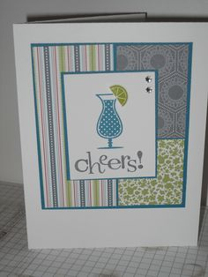 Stampin' Up Happy Hour stamp set...one of my favourites! www.vicstamper.stampinup.net