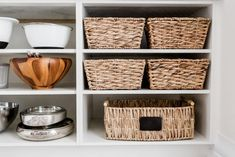 Here are 21 genius ways to organize kitchen cabinets without breaking the bank. In fact, many can be purchased from the dollar tree. Learn how to organize your pots and pans, tupperware, dishes and more with these awesome kitchen organization hacks! Kitchen Cabinet Shelves, Open Kitchen Cabinets, Inside Cabinets, Kitchen Cabinet Organization, Diy Kitchen, Awesome Kitchen, Kitchen Hacks, Cabinet Ideas, Kitchen Ideas