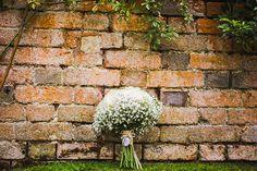Gyp and white roses wedding bouquet flowers www.samandlouise.co.uk blake hall Essex