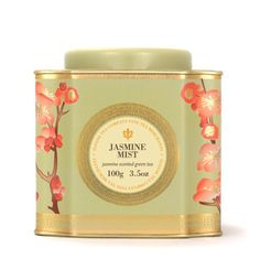 Jasmine Mist- Classic green tea leaves possessing a natural honeyed sweetness blossom with an even sweeter aroma of freshly plucked jasmine