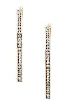 Simulated Diamond Inside-Out Hoop Earrings by HMY Jewelry on @HauteLook