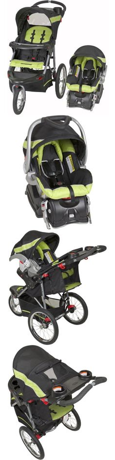 baby and kid stuff: Baby Trend Expedition Jogger Travel System 3In1 Stroller Car Seat Electric Lime BUY IT NOW ONLY: $150.95