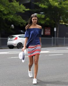 Taking it to the streets in chambray and stripes.#myFCstyle #FrenchConnectionAU
