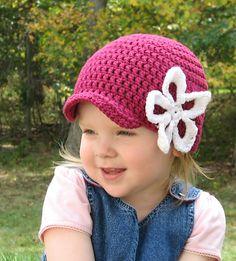 Ravelry: Brimmed Flower Hat - Kiera's Beanie pattern by Kristine Mullen