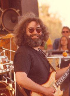 """Nothing left to do but smile, smile, smile"" Jerry Garcia The Grateful Dead @ Campus Stadium University of California, Santa Barbara June 4, 1979"