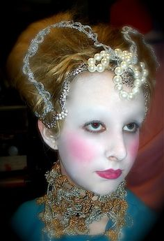 ELIZABETHAN STAGE MAKEUP-- Theatrical Makeup is so fun!