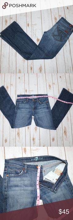 EUC 7FAM Flynt Size 27 EUC 7 For All Mankind Style: Flynt Size 27W 30L 7 For All Mankind Jeans