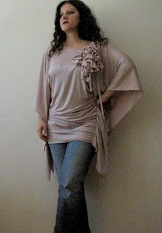 Little Treasures: Dusty rose tunic {with instructions how to make it}