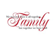 Family Vinyl Wall Decal We May Not Have It All by wallartsy
