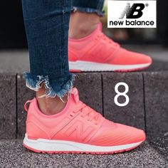 finest selection 8ef99 95290 New Balance Shoes   New Balance 247 Knit Coral Womens 8   Color  Orange