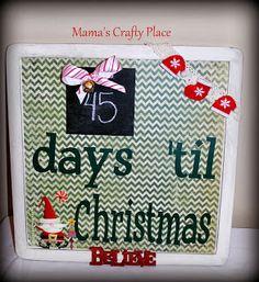 DIY Christmas Countdown using chalkboard paint