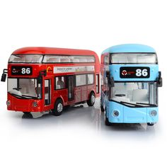 $37.02 - Nice Alloy London Bus Double Decker Bus Light & Music Open Door Design Metal Bus Diecast Bus Design For Londoners Toys For Children - Buy it Now!