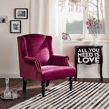 Maurice stylové křeslo ve fuchsiové barvě / living room armchair Wingback Chair, Armchair, Sofa, Designer, Accent Chairs, Living Room, Furniture, Home Decor, Diy