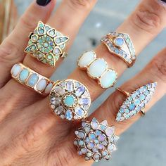 opal rings on gemgossip #opalsaustralia