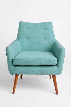 Modern Chair in Turq