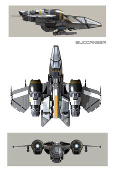 THE BUCCANEER Drake Interplanetary ship